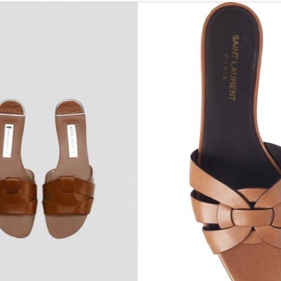 Zara | Crossed Leather Slides • 39